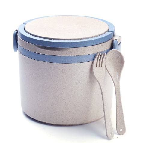 Single layer School Round Lunch Box <strong>Plastic</strong> with Handle