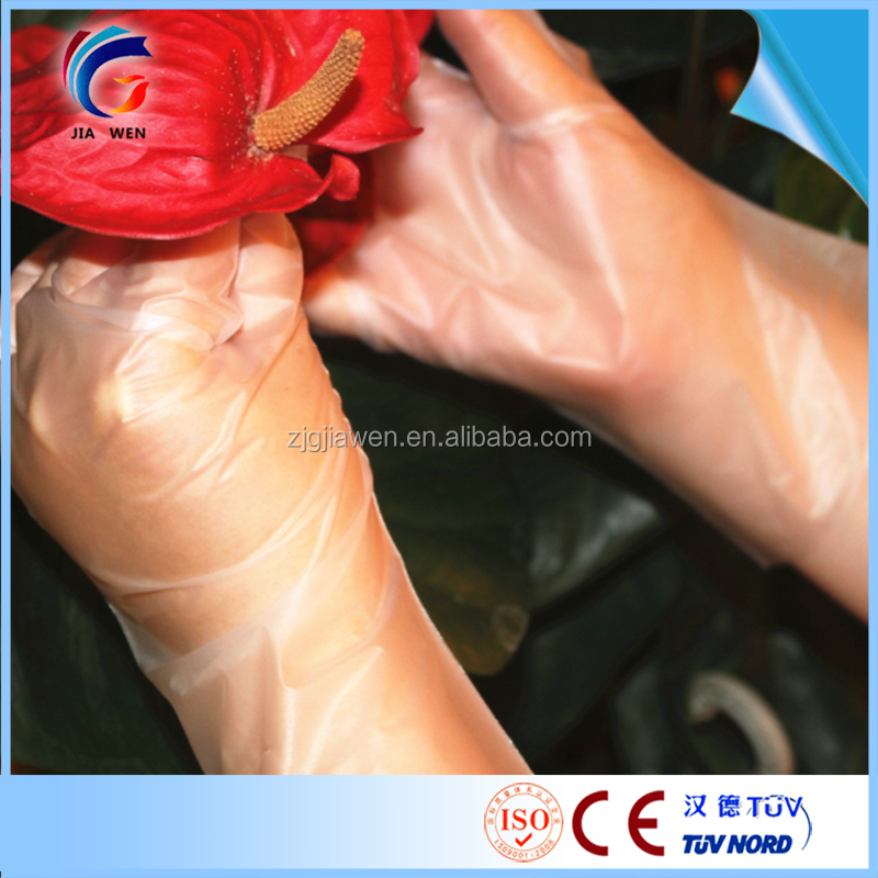 Silky stretch Glove with Elastic/TPE examination glove Powder Free