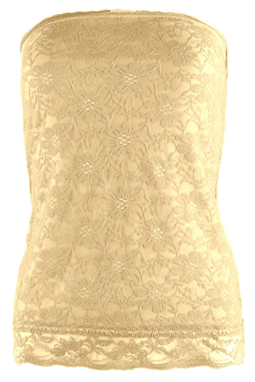 ViiViiKay VVK Womens Basic Plain Stretch Strapless Seamless Layering Long Bandeau Tube Top