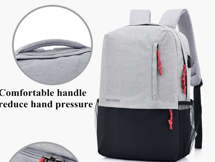 Stylish Unisex Canvas Book Bag School Backpacks For Girls Boys With Pen Bag