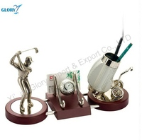 Metal desk pen holder metal crafts for business gifts