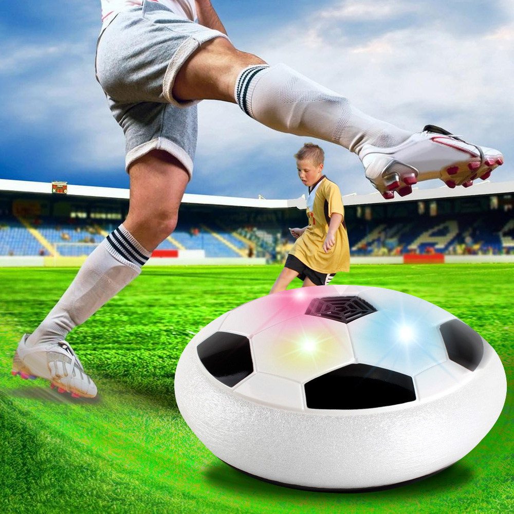 LED Light Colorful Disc Indoor Football Toy Air Power hover soccer <strong>ball</strong>