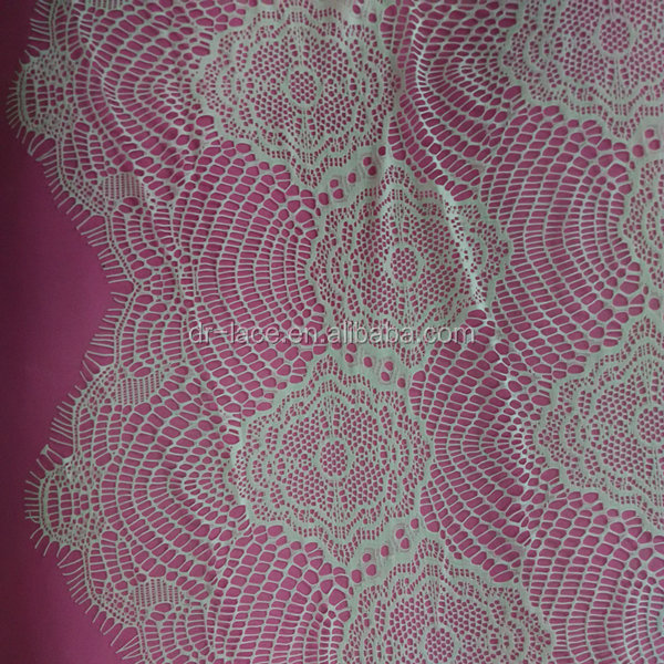 100% <strong>nylon</strong> 150cm width 3 meters length eyelash lace fabric for sexy bra