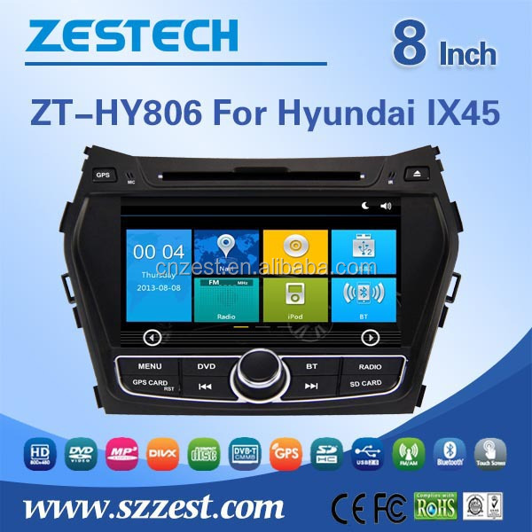 8'' screen audio system fit for Hyundai Santa fe IX45 2013 2014 car audio video entertainment navigation system