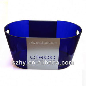 12 L ciroc rechargeable led lighted up plastic ice bucket