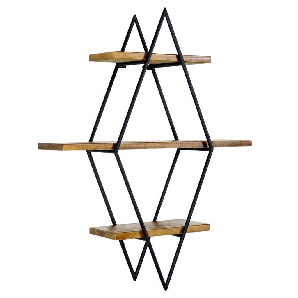 HCJZWJ JCRNJSB Shelf, Vintage Wall, Wall, Solid Wood, Wall-mounted, Shelf, Simple Living Room, Wrought Iron, Creative Bookshelf, Wall Mounted, 786020cm Can be stored removable Shelf Shelf Book shelf