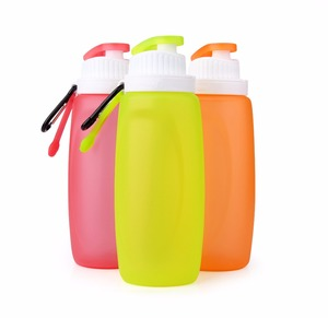 Promotional 320ML Lightweight Soft Silicone Collapsible Kid Drinking Water Bottle From China
