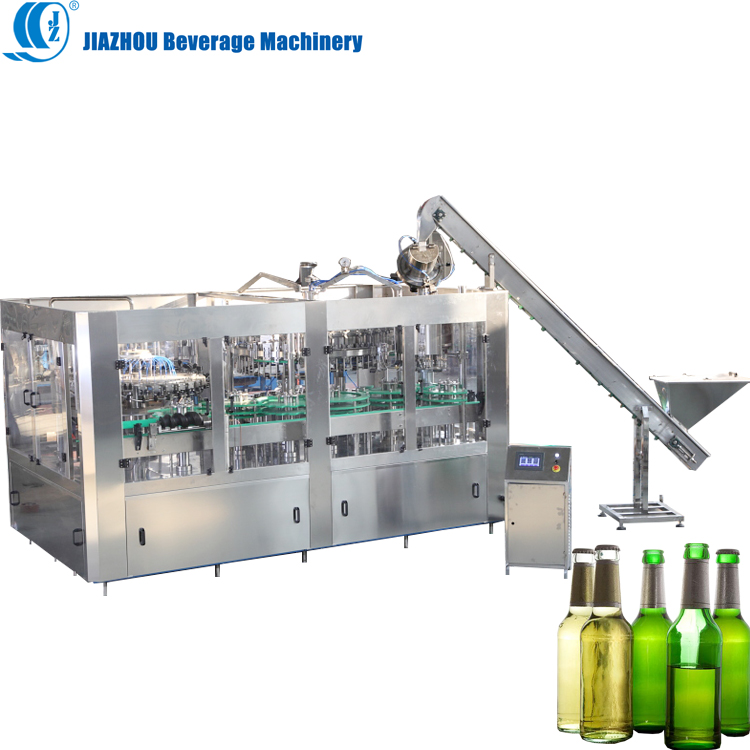 Beer glass bottle filling machine capping Manufacturer soda water making bottling Line
