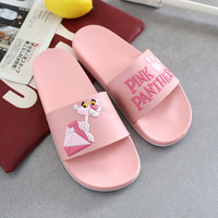2018 summer hot styles cartoon anti-skid pink panther household small fresh trend bathroom men and woman slippers