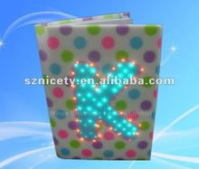 2012 Newest LED light diary with optical