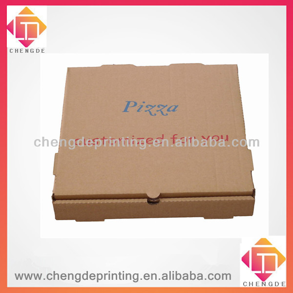 2013 kraft paper customize pizza box