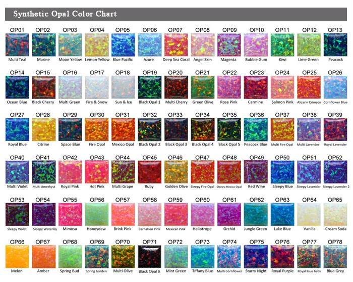 China Factory Directly Synthetic Opal Stone Color Chart Buy Opal
