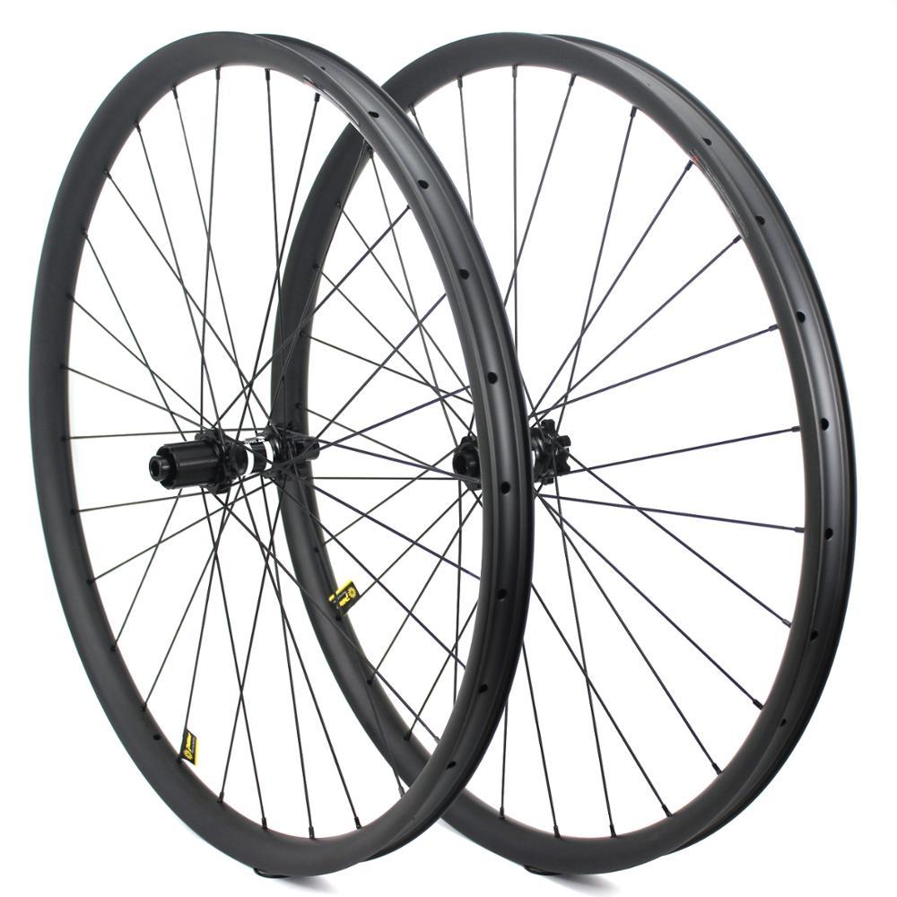 Siêu nhẹ và xe đạp carbon 29er mtb bánh xe cho 33 mét chiều rộng 29 mét độ sâu