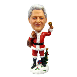 Polyresin 7inch Resin Christmas bobble head -for souvenir