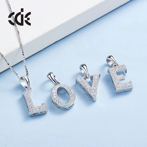 DIY fashion 26 English letter a b c d e f g h i j k l m n o p q r s t u v w x y z 925 sterling silver necklace pendant jewelry