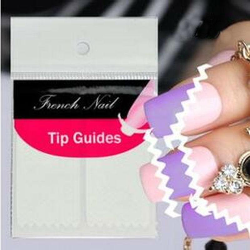 10Pcs French Manicure Wave Nails Sticker Stripe Nail Art Stickers Polish Tip Fringe Guides DIY Nail