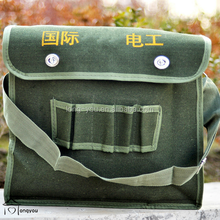 wholesale canvas material electrician tool bag green for plumbers