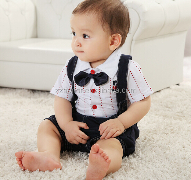 Cool overals for 1-2 year old boy, suspender trouser boy's suit