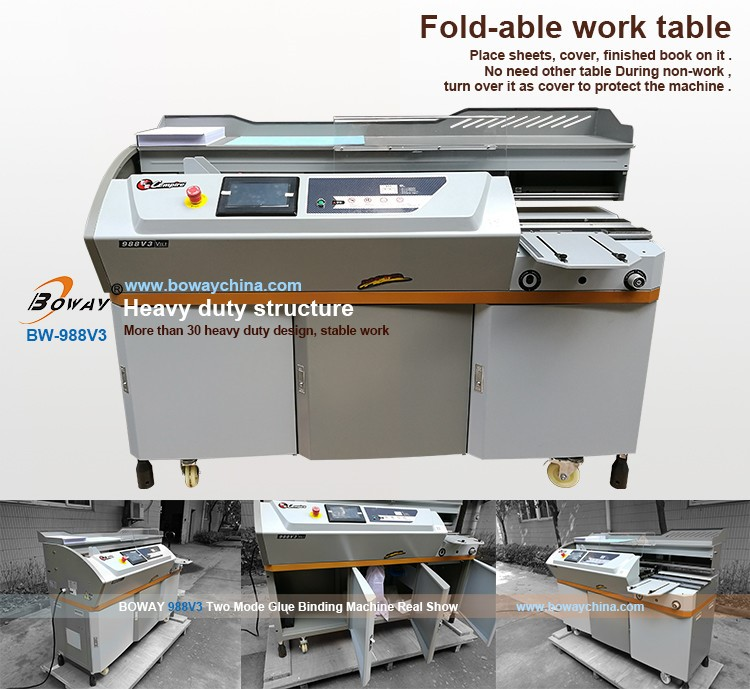 450 books/H 440mm Length 600 sheets BOWAY 988V3 Dual mode paper binding