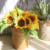Amazon Supplier high quality real touch artificial sunflowers bouquet