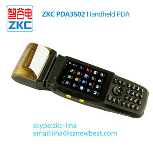 Rugged Android data Terminal PDA Handheld Mobile Scanner Devices with  Built-in Receipt Printer