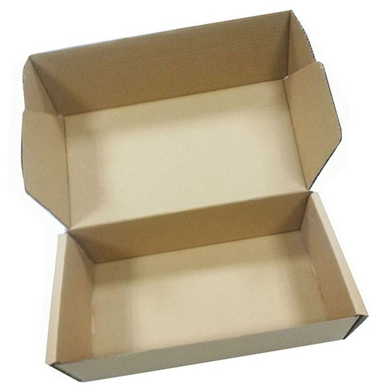 Good quality cardboard brown packing paper box with <strong>black</strong>