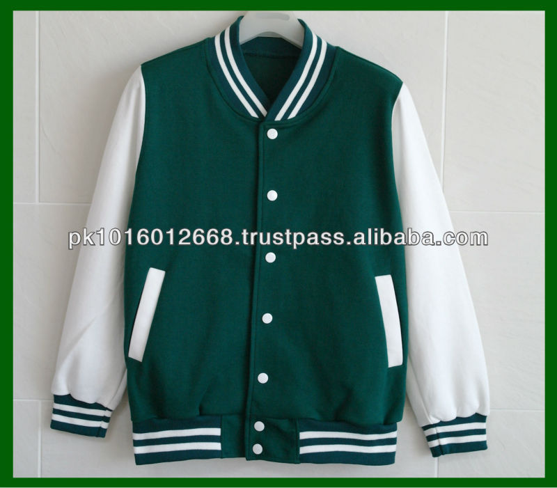 Women Cotton Letterman Baseball Varsity Jacket Green - Buy Cheap ...