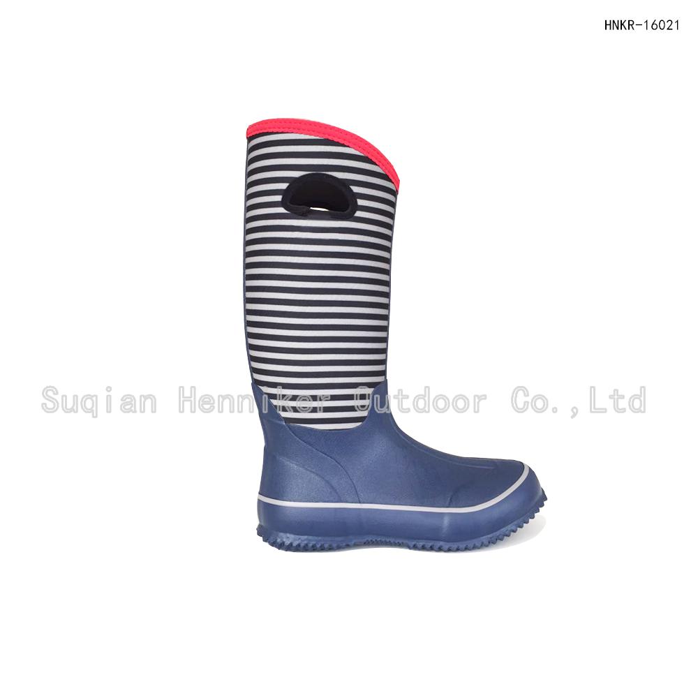 14'' Women's Neoprene Rubber Fanshion Boot For Winter