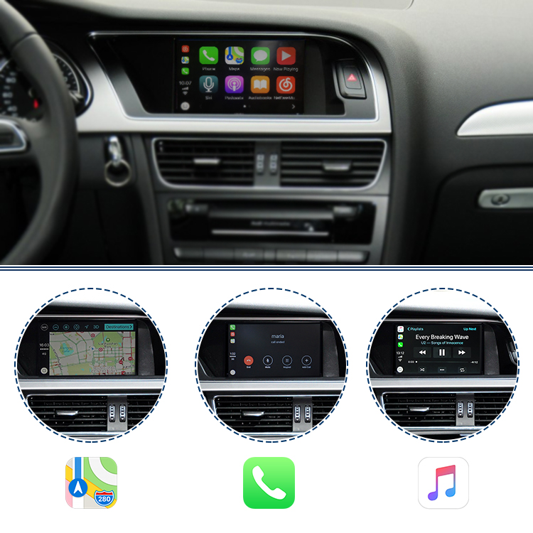 Add Navigation Apple Carplay For Audi A B Buy Navigation Carplay - Audi car play