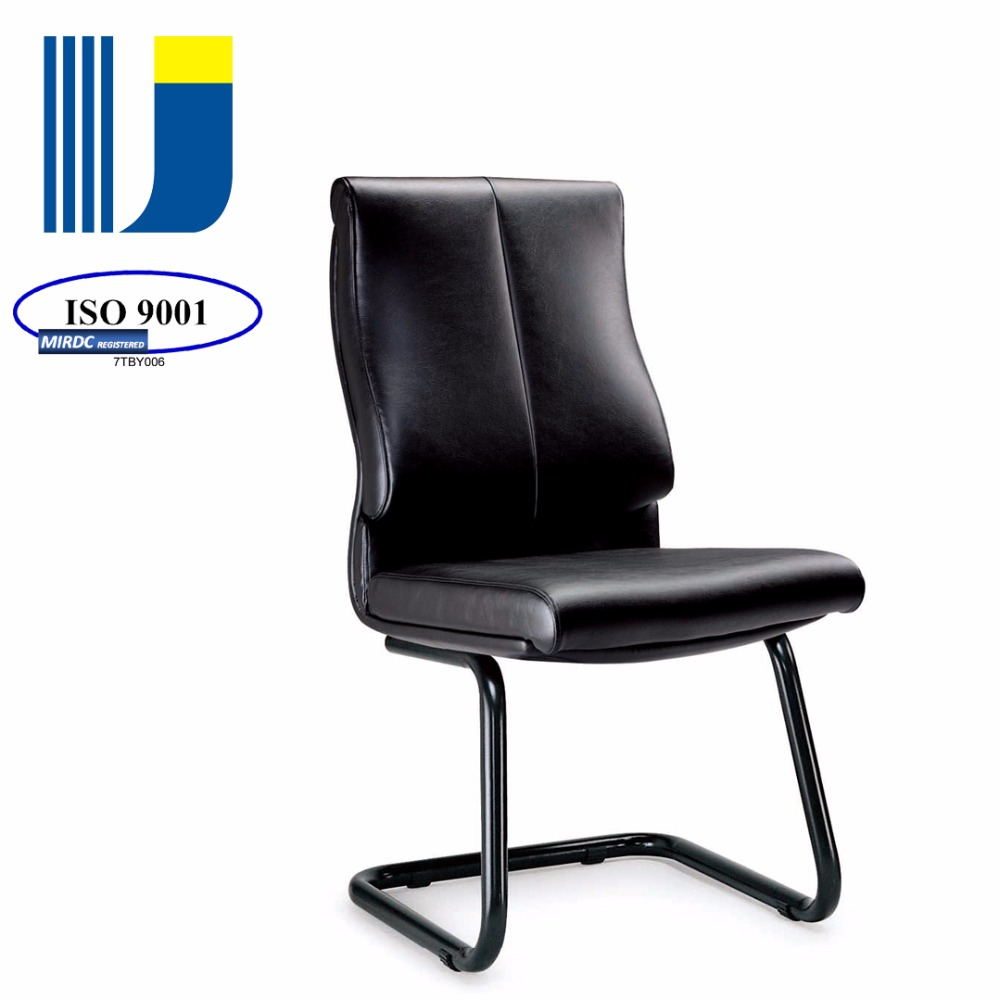 Office chair leather executive visitor/side chair sled base AJ01CV