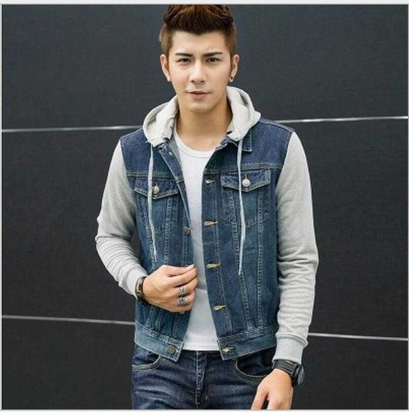3caa94b3d Fall-New Fashion Men's Fleece Hoodies Cowboy Men Jacket Tracksuits Denim  Jacket Men Jeans Jacket Men Hoodies And Sweatshirts
