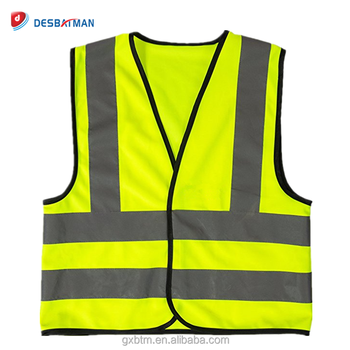 e077fa8dd837 Breathable Kids Child High Visibility Safety Vest With 3m Reflective ...