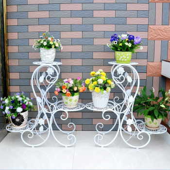 Wrought Iron Plant Stands Flower Holder For Home Garden Xy1301