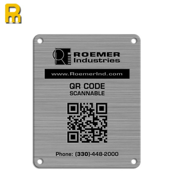 Tracking qr code metal name tag necklace metal dog tags for Qr code dog tag