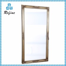 Large hair salon mirrored furniture wooden customized frame wall mirror
