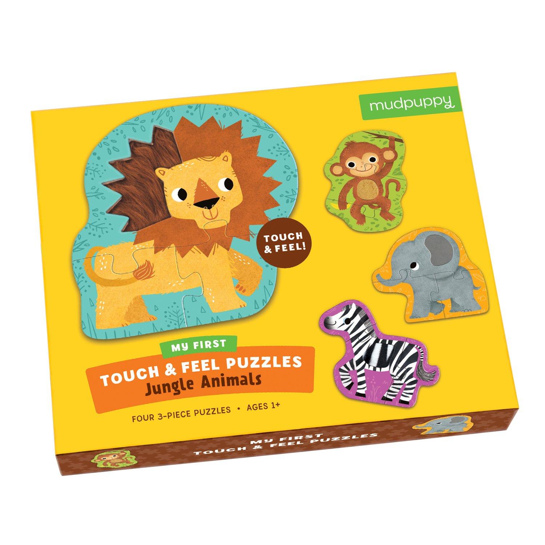 Mudpuppy Jungle Animals Touch & Feel Puzzle (12 Piece)