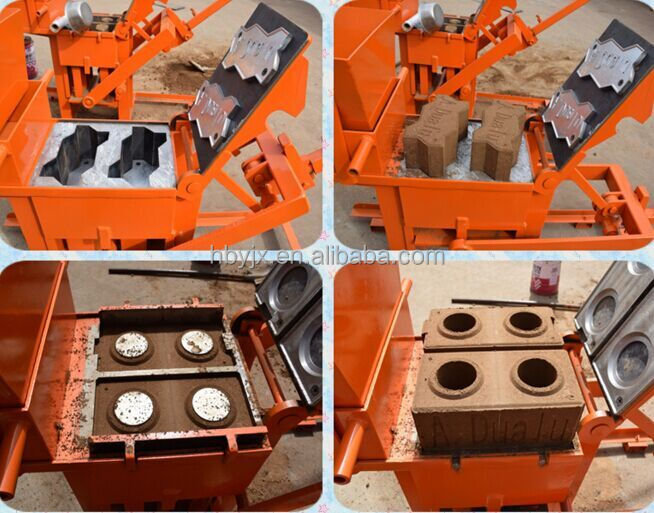 hongbaoyuan block machine QMR2-40 malaysia manual interlocking issb handmade brick making machine