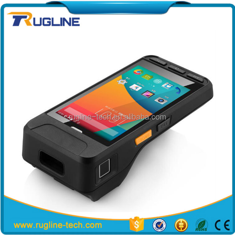 Big display 5 inch Android 5.1 printer handheld pda test terminal senter st327 with barcode reader
