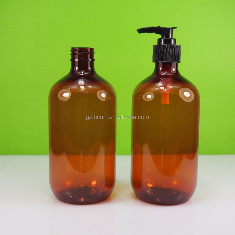 500ml amber PET plastic <strong>bottle</strong> for body wash