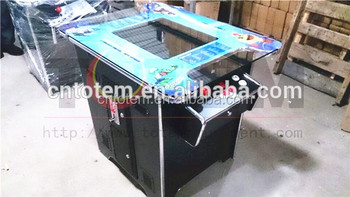19 inch LCD Bureau Arcade Game Machine voor 60 of 412 in1 jamma board pac man game