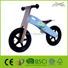 "12"" Blue Snowflake Kids Wooden Balance Bikes for kids Walking"