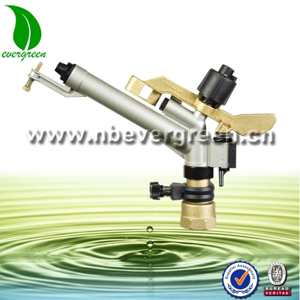 "1.5"" brass and aluminum long distance water irrigation sprinkler gun"