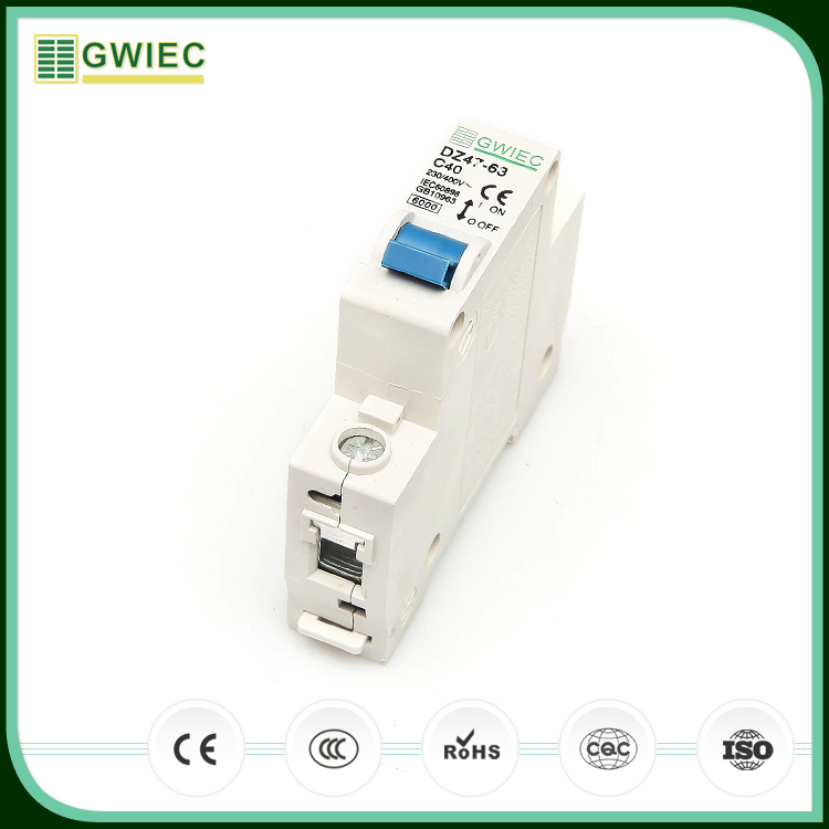 GWIEC China Wholesale Hot Sale DZ47 63 High Breaking Mini Circuit Breaker 1P 230V