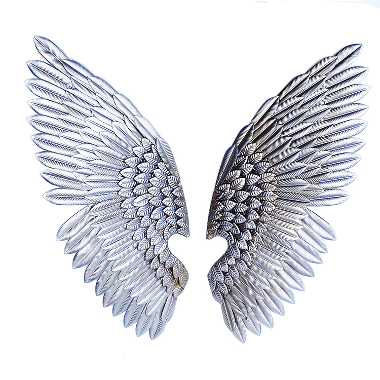 Metal Leaf Combine Angel Wings Wall Decor Silver And Golden Color Gold Art Decoration Product On Alibaba