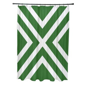 Factory Supplies Striped Pattern Shower Curtain Mildew Resistant with Easy Cleaning Care