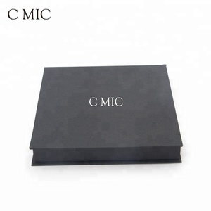 Antique Full Color Printing Collapsible Kraft Cardboard Paper Magnetic Closure Black Ring Jewelry Box Holder
