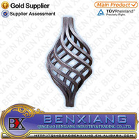 decorative parts iron rod wrought iron baskets