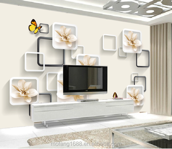 Beautiful 3d Embossed Relief Lily Butterfly New Design Wallpaper For Office  Living Room Background Wall Panel Mural Wallpaper - Buy Wallpaper For ...