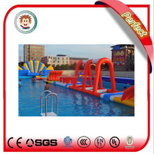Adults kids giant commercial used swimming pool tube slide, inflatable water slide with pool