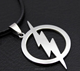 Marvel Comics THE FLASH Logo Stainless Steel Pendant Necklace Free Chain